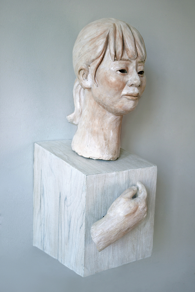 My Sister039s Daughter, ceramic, wood, paint, 2013